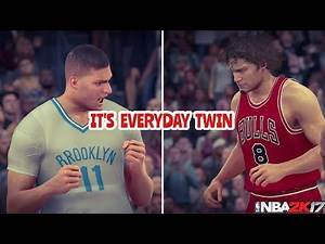 NBA 2K17 PLAY NOW - THE WORST TEAM IN 2K17? THE LOPEZ TWINS!! BROOKLYN NETS