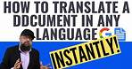 How to Translate a Document in Any language using Google Docs