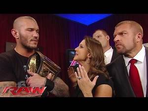 The Authority does not budge in making new WWE World Heavyweight Champion Randy Orton compete: Raw,