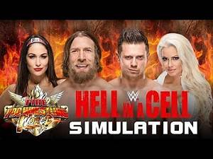 Daniel Bryan & Brie Bella vs The Miz & Maryse | Hell in A Cell Simulation | Fire Pro Wrestling World