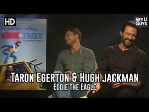 Taron Egerton & Hugh Jackman - Eddie the Eagle Exclusive Interview