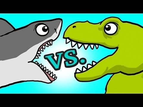 "Team SHARK VS. Team DINO ""SHARKY in Dinosaurios DOMAIN"" #45 ( BEST OF!!)"