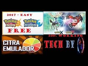 POKEMON X and Y POKEOMON SUN & MOON ! EASY DOWNLOAD ! WORKING 100 % !! CITRA 3DS EMULATOR