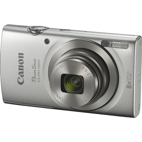 ELPH 180 20.0MP Digital Camera 8x Optical Zoom Black | Digital Cameras