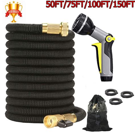 100Ft Flexible 8 Patterns Water Hose Spray Nozzle Kit Brass Home Garden | Watches Store Online Reviews