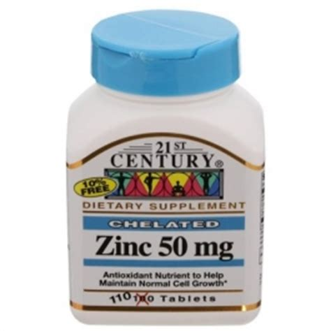 21st Century Chelated ZINC 50 mg 110 Tablets | Gps Store