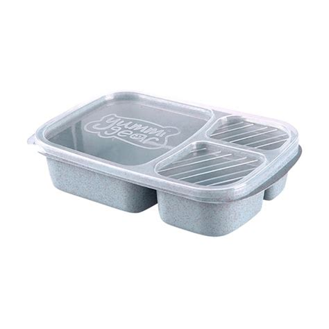 3 Compartments Reusable Plastic Food Storage Diet | Watches Store Online Reviews
