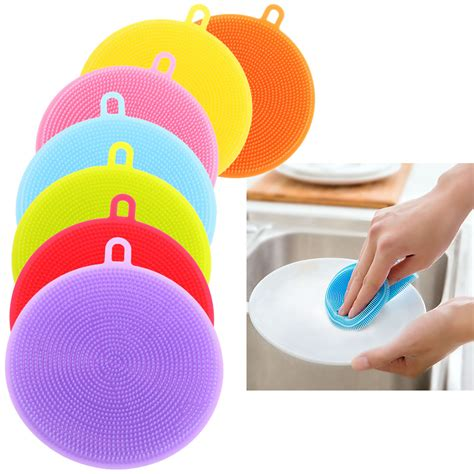 3Set Kitchen Home Silicone Dish Washing Sponge Scrubber Cleaning Cleaner Mat | Gps Store