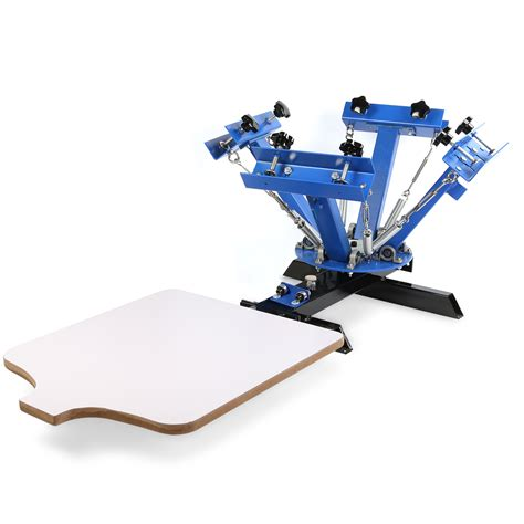 4 Color 1 Station Silk Screen Printing Machine Press Equipment T Shirt DIY | Watches Store Online Reviews