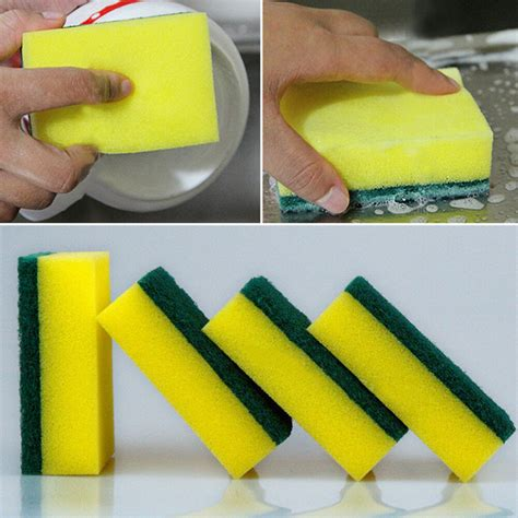 5Pcs Washing Sided Cleaning Dish Kitchen Tools Wipe Brush Sponge Scouring Gadget | Gps Store