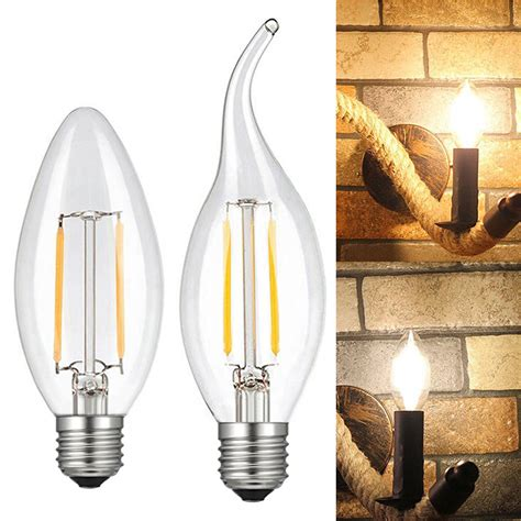 5pcs 2W 4W 6W LED COB Candelabra Bulb E12 Candle Light Lamp Flicker Flame Bulb | Gps Store