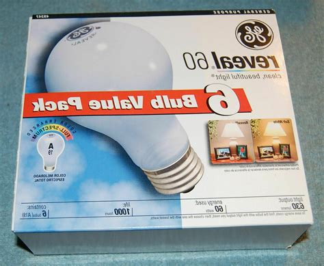 6 Pack of GE Reveal Incandescent | Gps Store