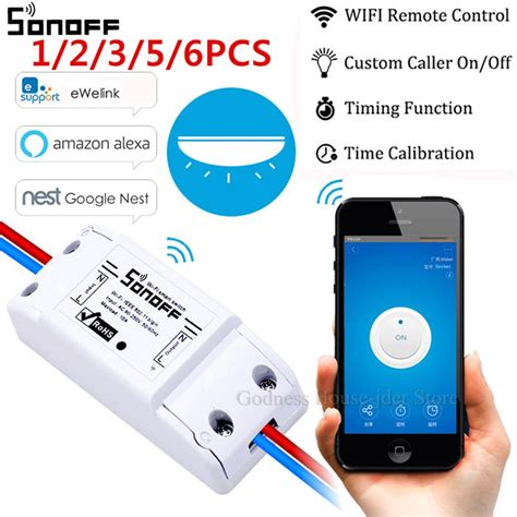 6pcs Sonoff Smart Home WiFi Wireless Switch Module For Apple Android APP Control | Watches Store Online Reviews
