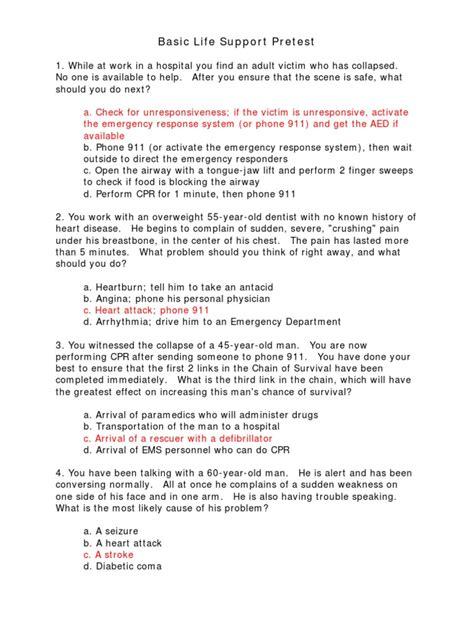 AHA-BLSCPR-Test-Answer-Sheet