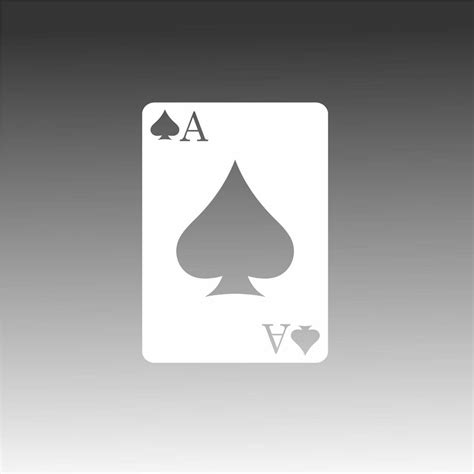 Ace of Spades Decal Gambling Icon Poker Card Sticker | Watches Store Online Reviews