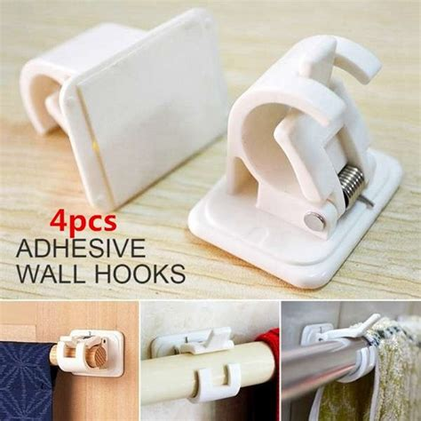 Adhesive-ShowerCurtain-Rod-Brackets