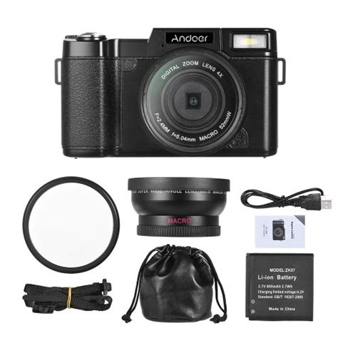 Andoer Digital Camera Vlogging Camcorder Full HD 1080P 24MP Video Camera 3.0 inc | Digital Cameras