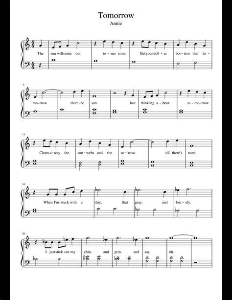 Annie-Tomorrow-PianoSheet-Music-Free