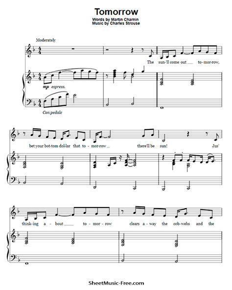 Annie-Tomorrow-Sheet-MusicPrintable