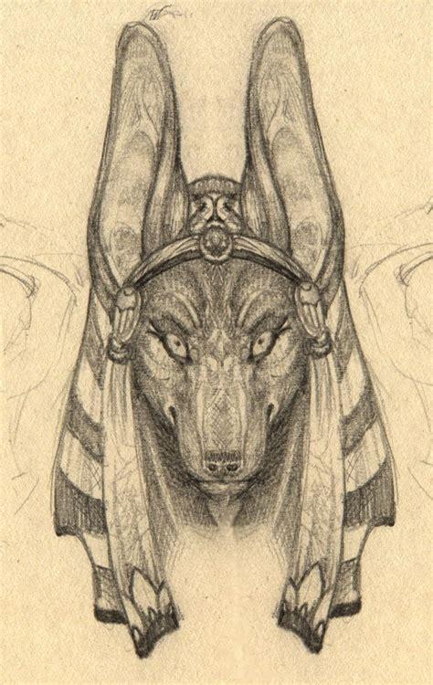 Anubis Face Drawing