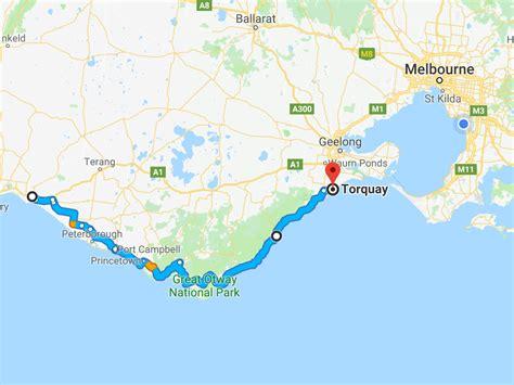 Australia Great Ocean Road Map