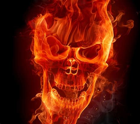 Awesome Flaming Skulls