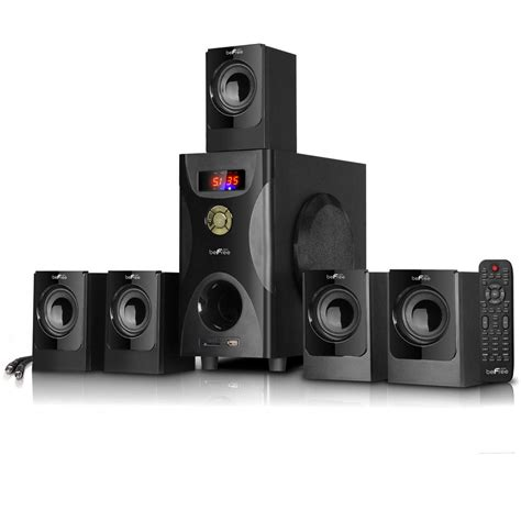 BeFree 5.1 CHANNEL BLUETOOTH SURROUND SOUND HOME THEATER SPEAKER SYSTEM BLACK | Gps Store