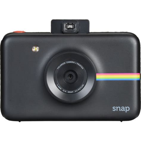 Black Polaroid Snap Instant Digital Camera with ZINK Zero Ink Technology | Digital Cameras