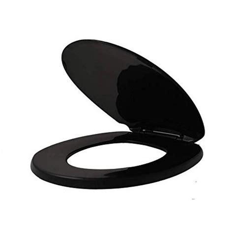 BlackElongated-Toilet-Seat