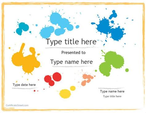 Blank-Certificate-ArtAward-Template