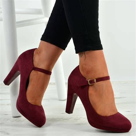 Block High Heels Buckle Ankle Strap | Gps Store