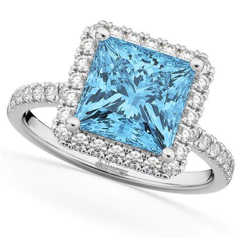 Blue-DiamondPrincess-Cut-Engagement-Rings