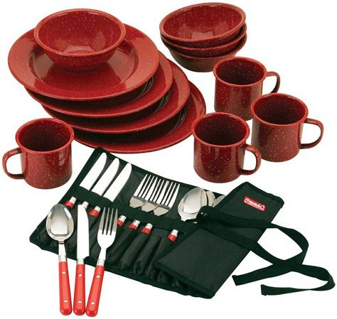 Camping Enamel Tableware 24 Piece | Watches Store Online Reviews