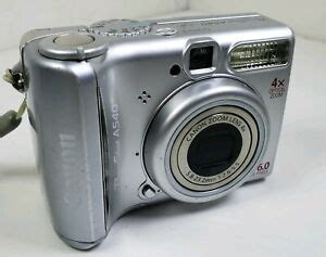 Canon PowerShot A540 6.0MP Digital Camera Silver Tested and Working | Digital Cameras