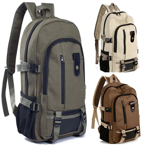 Canvas Outdoor Travel Rucksack Camping Hiking Laptop Book School Bag Backpack | Gps Store