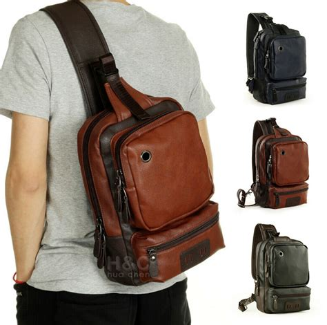Chest Shoulder PU Leather Backpack Satchel | Gps Store