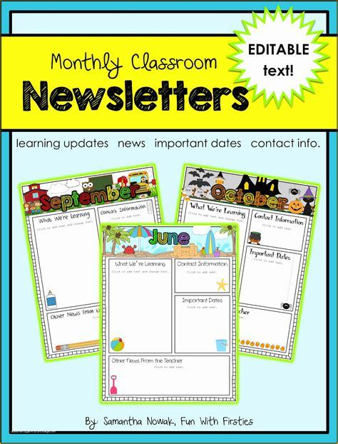 Classroom-Newsletter-TemplatesFree