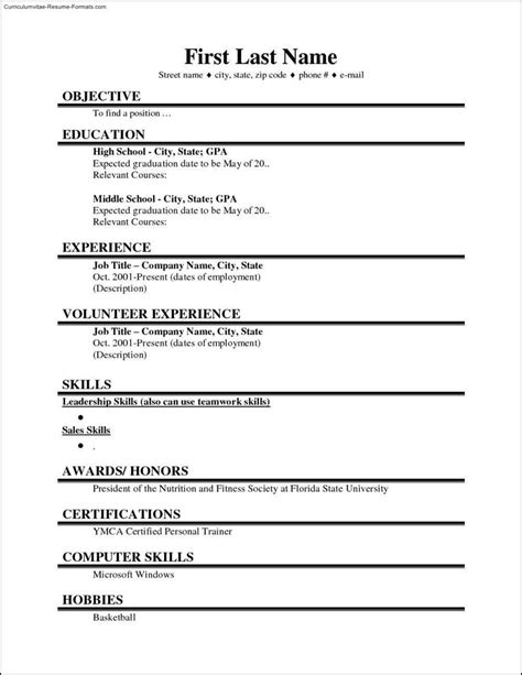 College-StudentResume-Template-Word