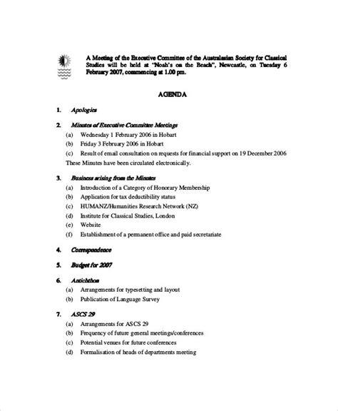 CommitteeMeeting-Agenda