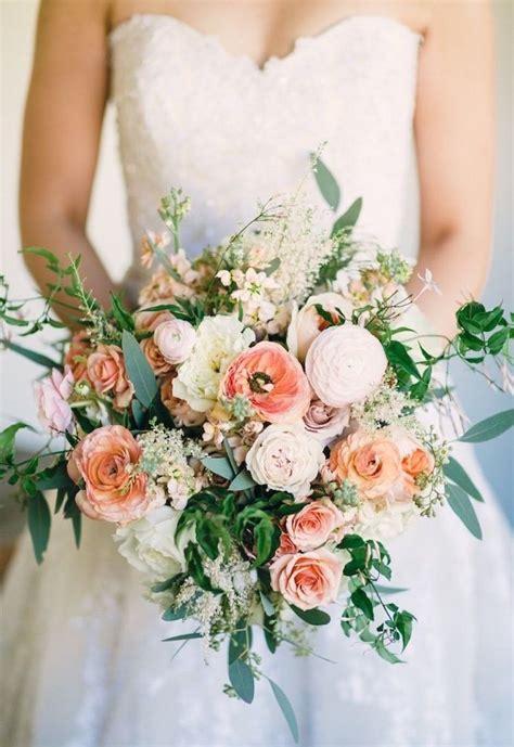 Coral-Color-Wedding-Flower-Bouquet