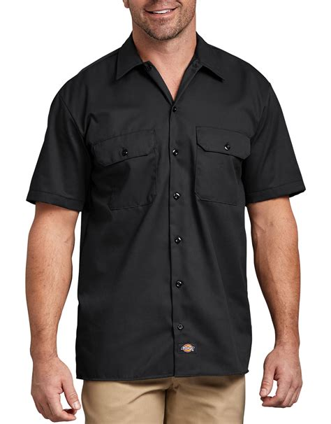 DICKIES Mens Short Sleeve Work Shirt Classic Workwear NAVY S 4XL | Gps Store