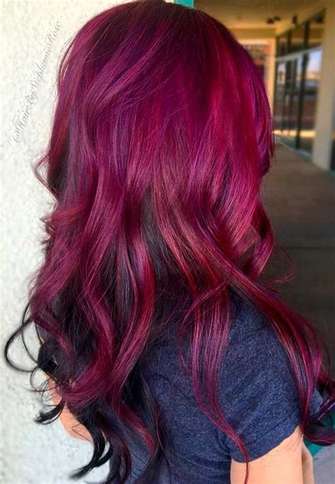 Dark-Purple-Red-HairColor-Ideas