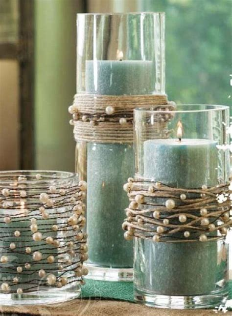 Decorating Glass Candle Ideas