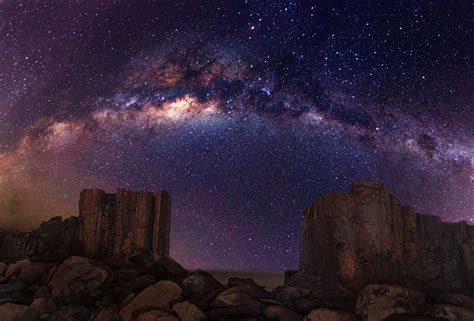 Desert Night Sky Milky Way Galaxy Road