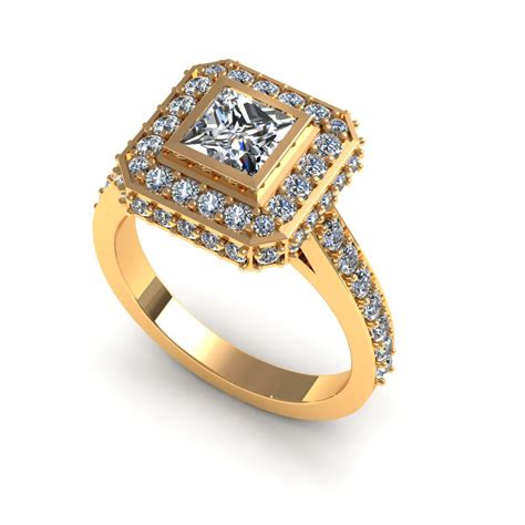 Diamond-Halo-EarringsStuds