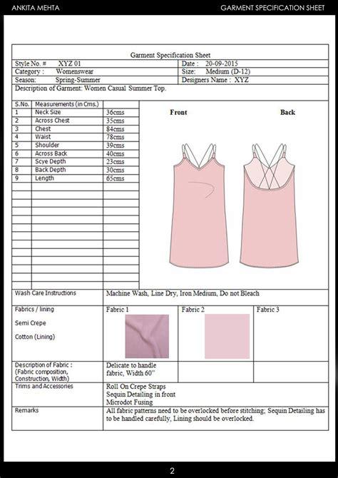 Dress-SpecSheet