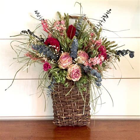 Dried-FlowerBasket-Arrangements