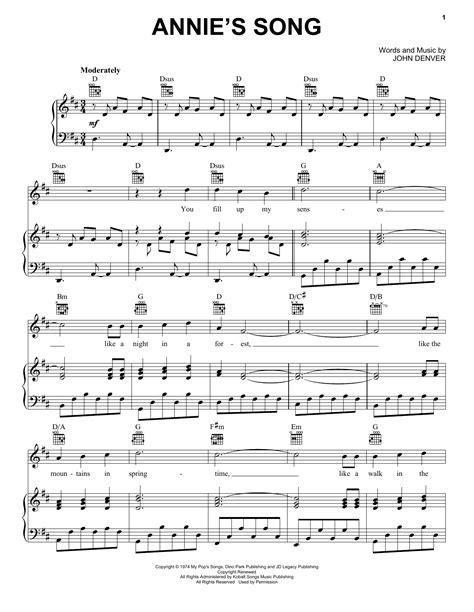 Easy-PianoSheet-Music-Annie