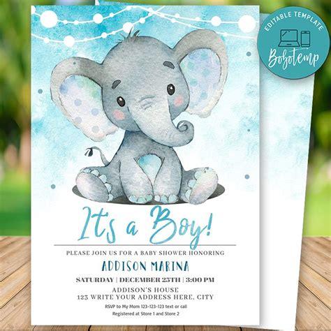 ElephantBaby-Shower-Invitations