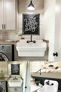 Farmhouse-Style Laundry Room Sink